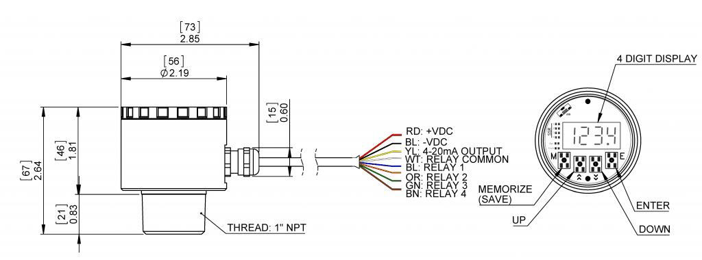 Anfield Ultrasonic dimensions